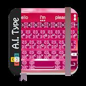 Download Pink Diamonds AiType Theme APK