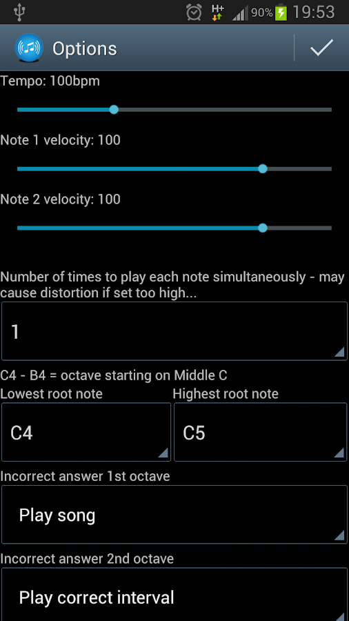 Interval Recognition-Ear Train - screenshot