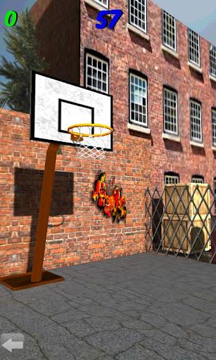 3Dバスケットボールシュートアウト