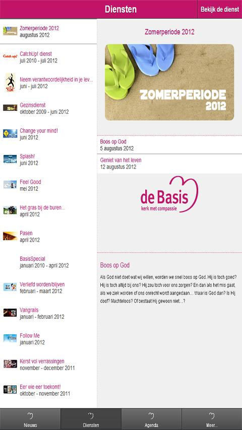 De Basis voor Tablet - screenshot
