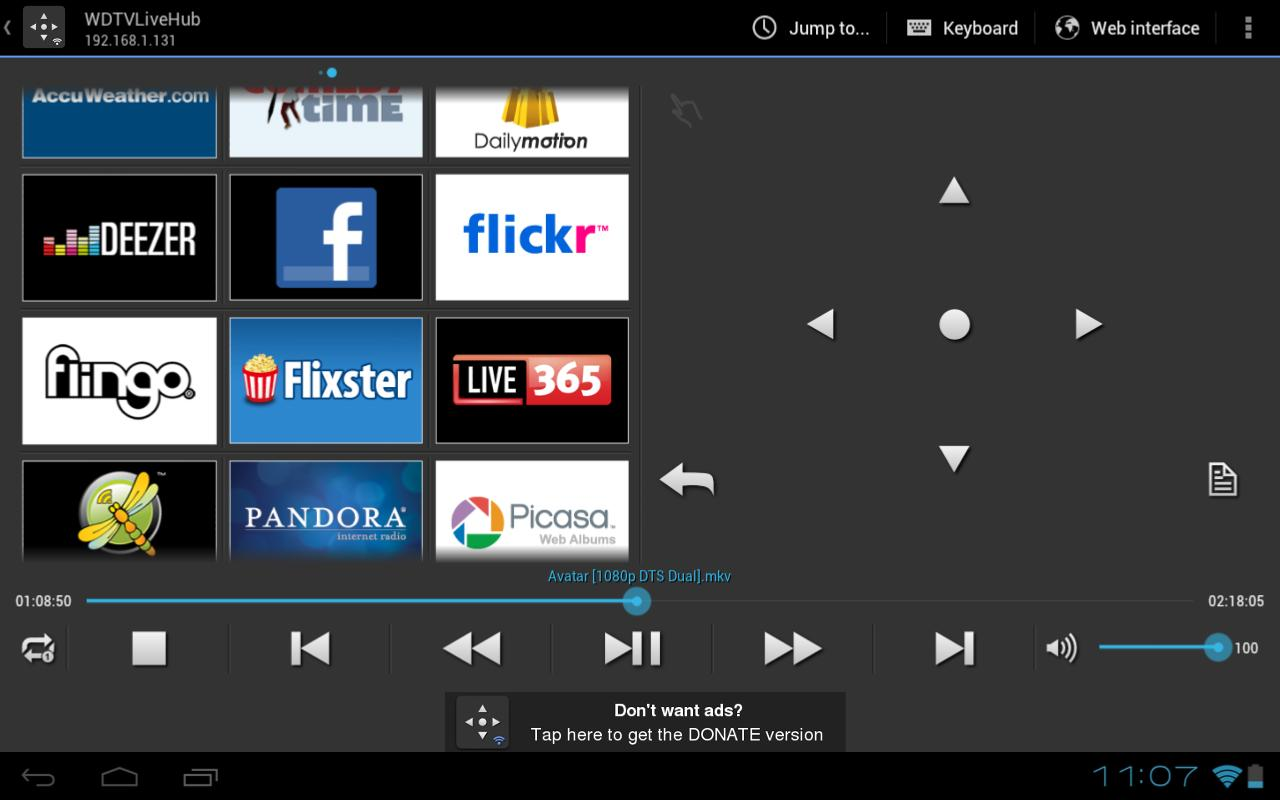 WDlxTV MediaPlayers Remote - screenshot