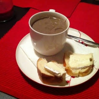 Mushroom Soup with Sherry and Truffle Oil.