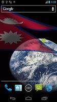 Screenshot of 3D Nepal Flag Live Wallpaper +