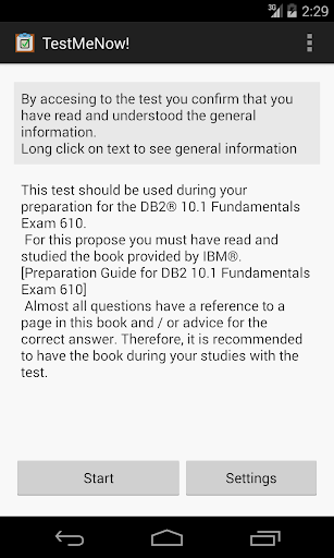 玩免費教育APP|下載TestMeNow! DB2 Fundamental 610 app不用錢|硬是要APP