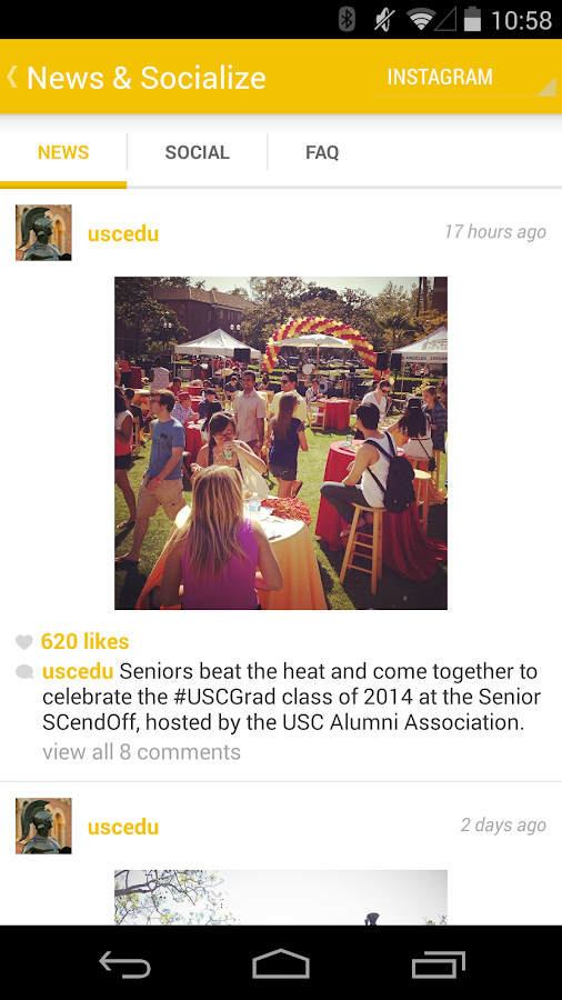 USC Commencement - screenshot