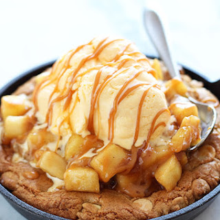Salted Caramel Apple Pie Pizza Cookie