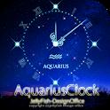 12星座☆水瓶座アナログ時計ウィジェット icon