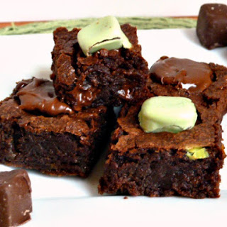 Fudgy Mint Meltaway Brownies