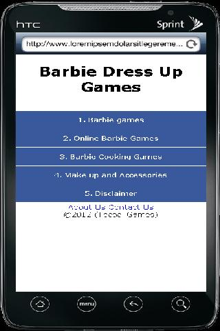Barbie Dress Up Games - screenshot
