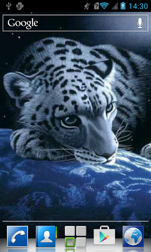 Leopard on the globe LWP