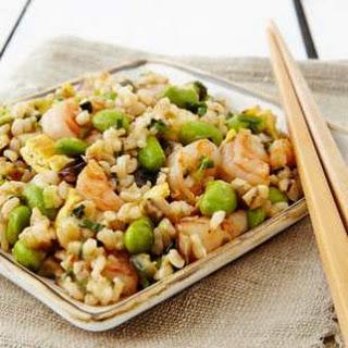 Japanese Shrimp & Eggplant Fried Rice.