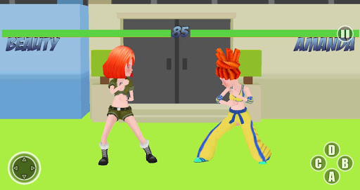 School Girls Fight 3d