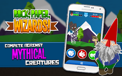 Rock, Paper, Scissors Wizards!- screenshot thumbnail