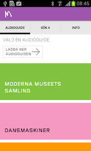 Moderna Museet audioguide- screenshot thumbnail