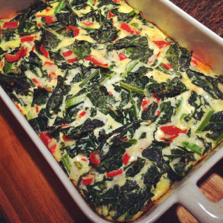 Kale & Mozzarella Frittata (or crustless quiche).
