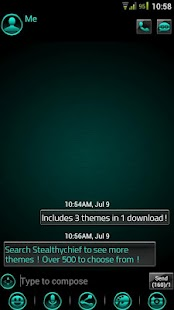 GO SMS Platinum Cyan Theme- screenshot thumbnail
