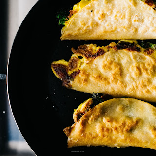 Breakfast Quesadillas with Broccoli, Cheddar and Eggs