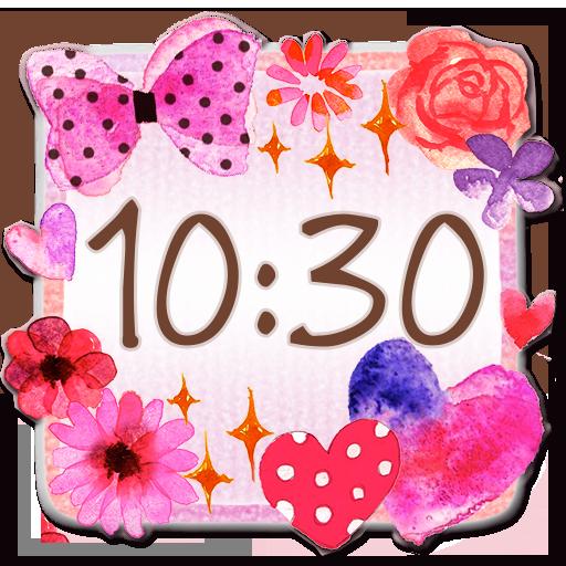 かわいい時計ウィジェット2【無料】 生活 App LOGO-APP試玩