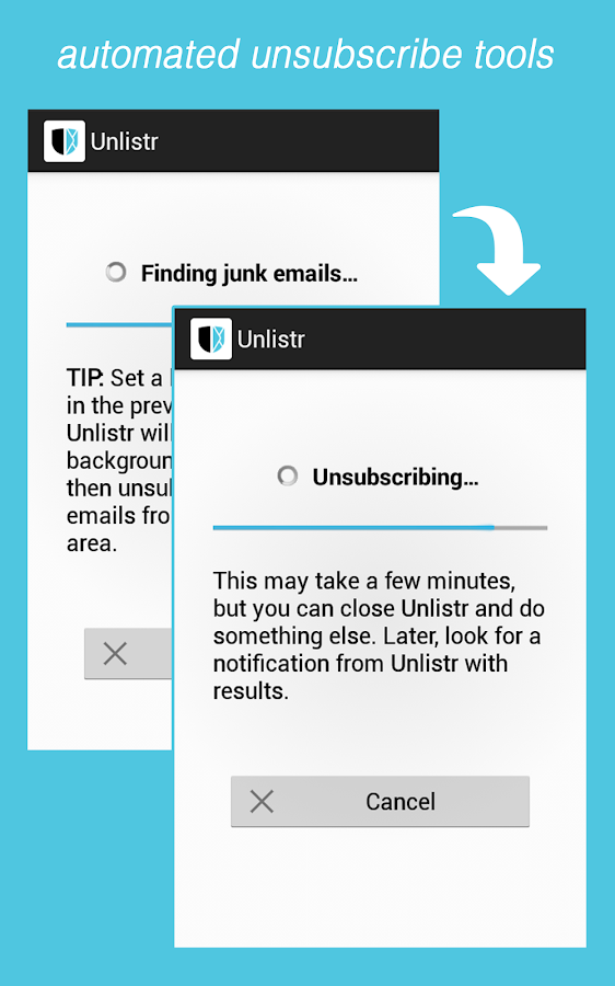 Unlistr - Clean Up Your Email- screenshot