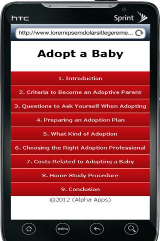 Adopt a Baby