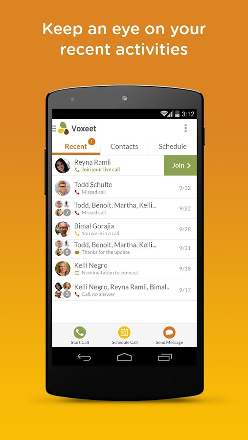 Voxeet Conferencing - screenshot