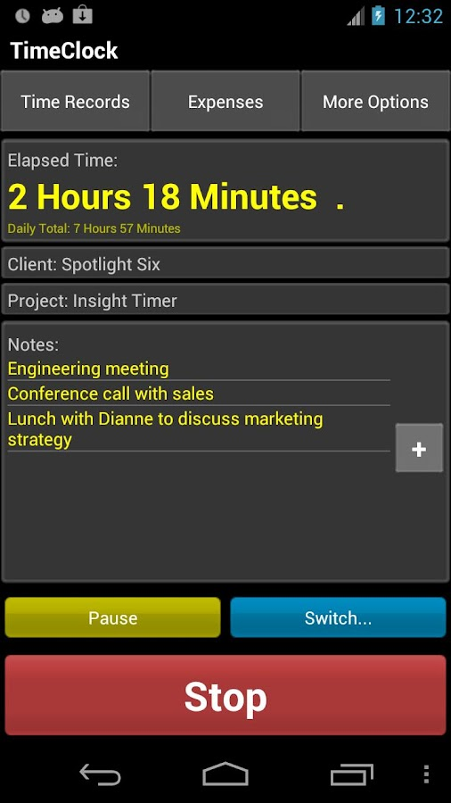 TimeClock Free - Time Tracker - screenshot