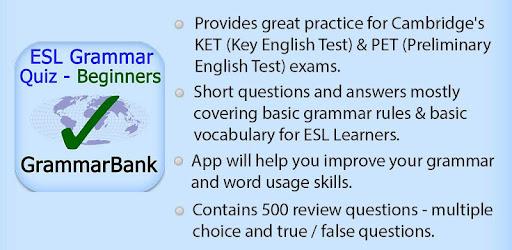 ESL Grammar Quiz - Beginners - Apps on Google Play