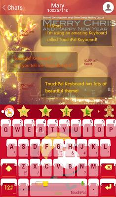TouchPal Christmas Snow Theme - screenshot