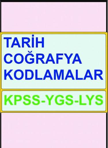 Tarih Cografya Kod KPSS YGS