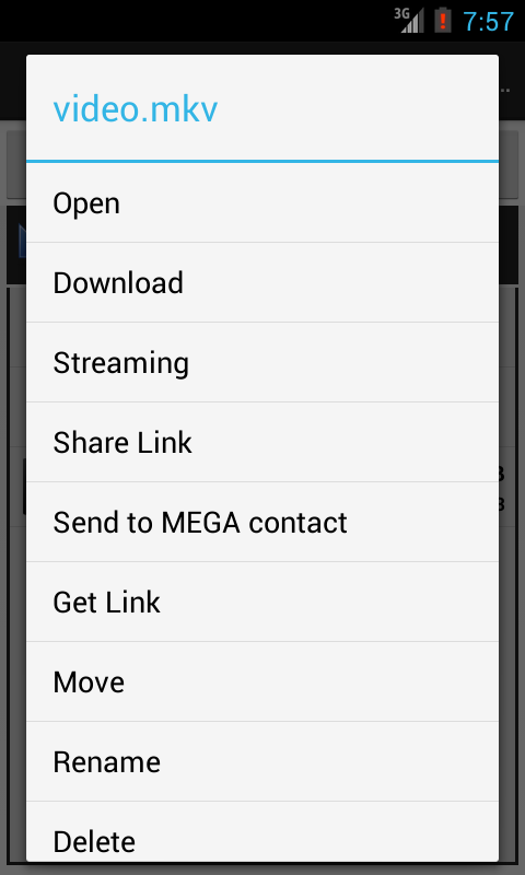 Mega Mobile Streaming - screenshot