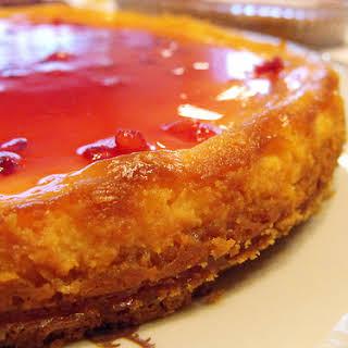 Cheesecake with Pomegranate Jam.