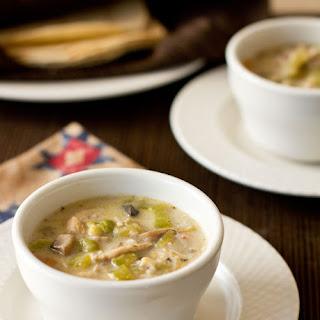 Green Chile Chicken Mushroom Soup