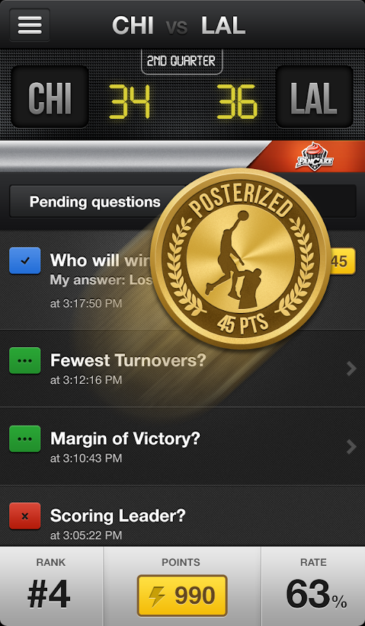FanCake, Rewarding Sports Fans - screenshot