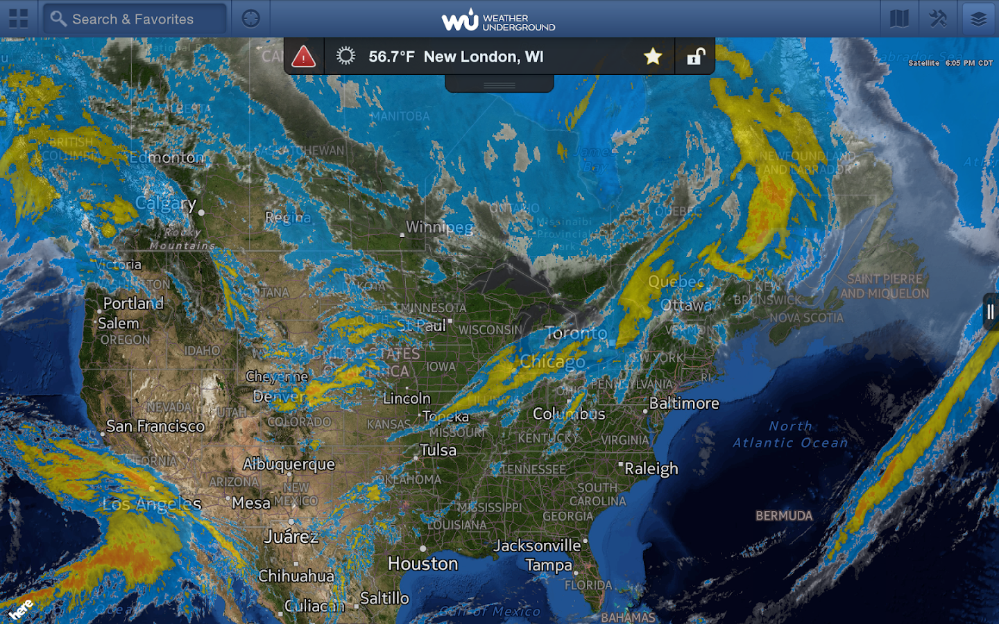 WunderMap - screenshot