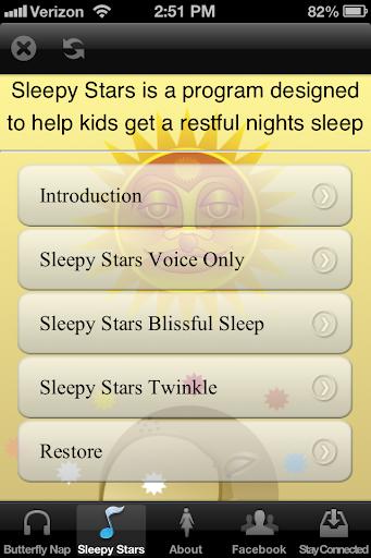 【免費健康App】Butterfly Naps & Sleepy Stars-APP點子