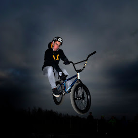 by Andrew Percival - Sports & Fitness Cycling ( flash, extreme, lighting, bikes, shutter, bmx, view, shadows, photography )