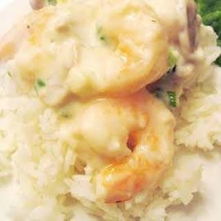Shrimp in Sherry Cream Sauce.