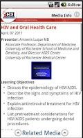 Screenshot of CEInema:HIV Clinical Education