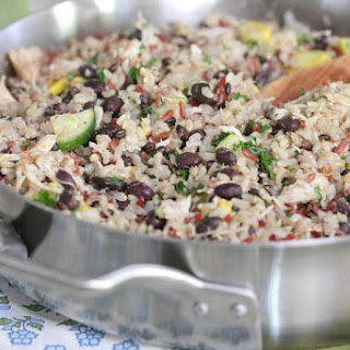 Chicken and Black Bean Smoky Rice Skillet.