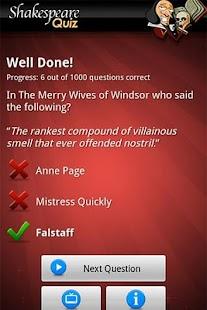 FreePlay Shakespeare Quiz- screenshot thumbnail