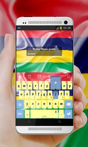 玩免費個人化APP|下載毛里求斯键盘 app不用錢|硬是要APP