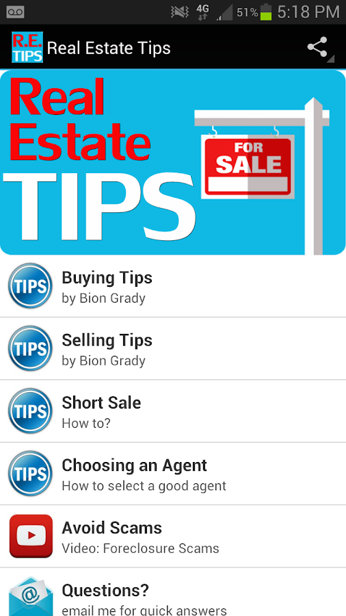 Real Estate Tips - screenshot