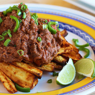 Chili Topped Parsnip Wedges