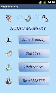 Audio Memory MASTER- screenshot thumbnail