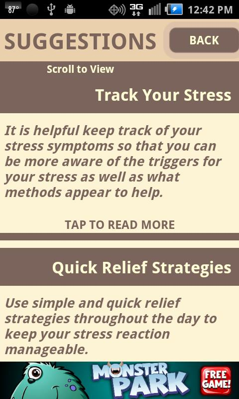 Stress Test and CBT Self-Help - screenshot