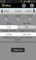 Screenshot of Nitrox calculator