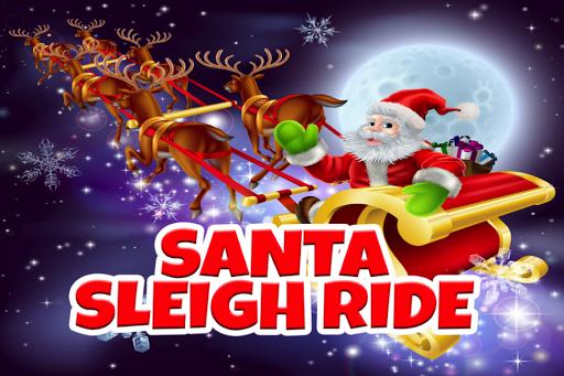 圣诞老人的圣诞雪橇骑