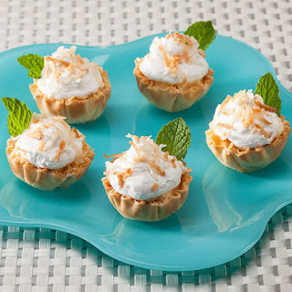 Coconut Banana Mini Phyllo Cream Pies
