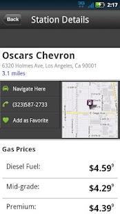 MapQuest Gas Prices - screenshot thumbnail