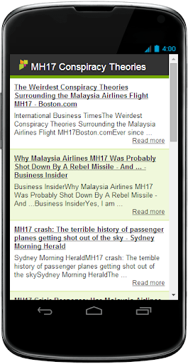 MH17 News Conspiracy